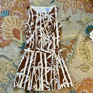 J. Mc Laughlin Bamboo Print Dress Sz 6